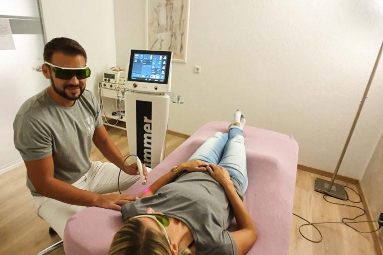 lasertherapie dorsten patientin