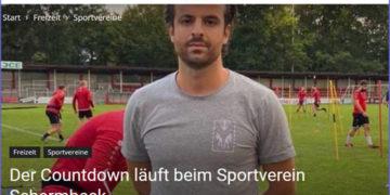 Physiotherapeut Arjan Etemi kümmerte sich um die Spieler des Sportvereins Schermbeck