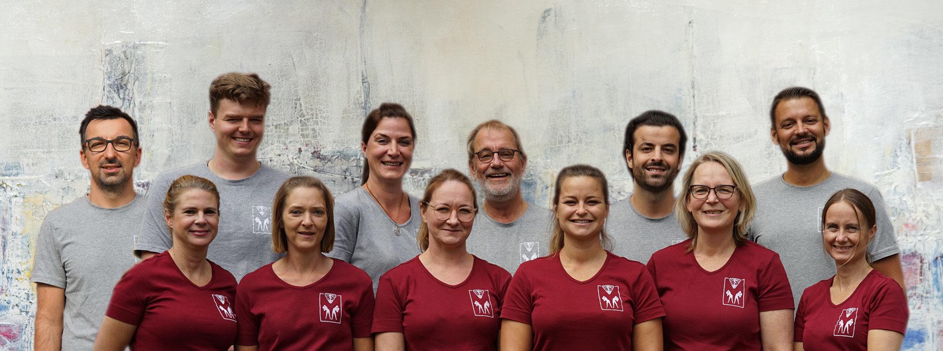 Gruppenfoto, Mitarbeiter, Team Lurbiecki Dorsten
